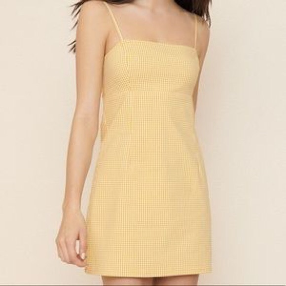 Garage Yellow Mini Dress